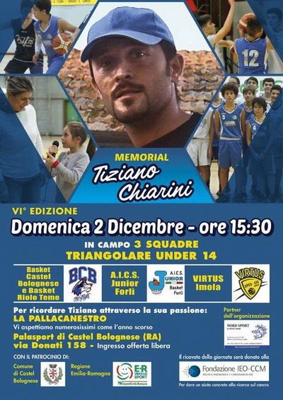 Domenica 2 dicembre la selezione U14 dell A.I.C.S. JUNIOR BASKET FORLI  ha  preso parte al VI Memorial Tiziano Chiarini 858243420683